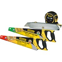 Stanley  Twin Saw Pack with Knife & Measuring Tape