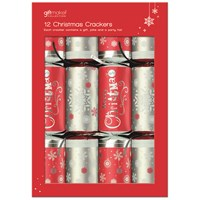 Anker  Christmas Crackers Red & Silver - 12 Pack