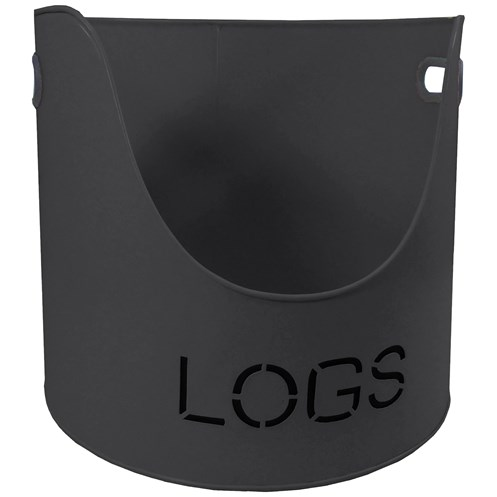 "Sirocco The Collection ""Logs"" Bucket Grey - 37cm"