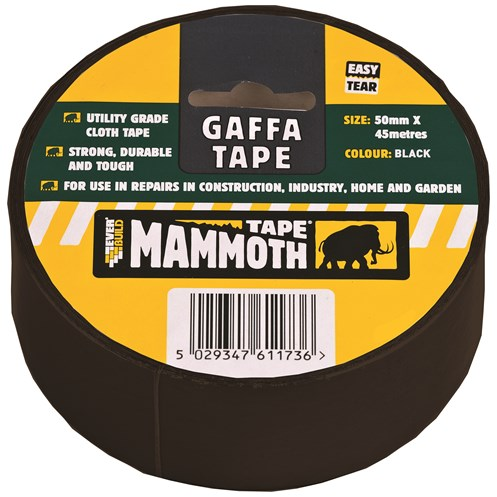 Everbuild Mammoth Gaffa Tape 50mm x 45m - Black