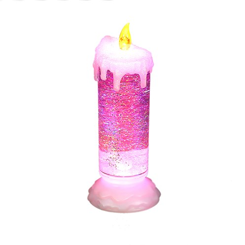 Snowtime  Magic Water Glitter Candle - 24cm