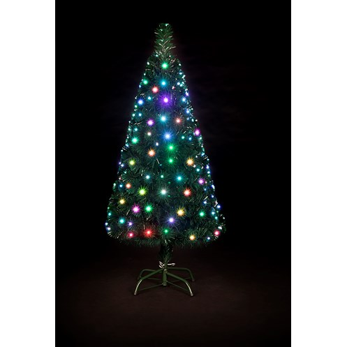 Snowtime  Snowbright Colour-Changing LED Christmas Tree - 7ft