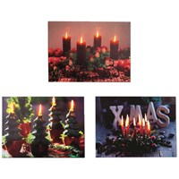 Premier Decorations  Canvas Picture - Christmas Candles