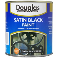 Douglas Decorative Range Satin Black Paint - 1 Litre