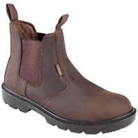 Cargo  Dealer Slip On Safety Boots - Brown