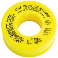 UEL  Gas PTFE Tape - Yellow